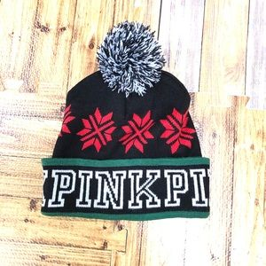 PINK Victoria's Secret holiday beanie